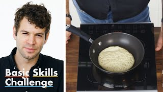 50 People Try to Make Pancakes   Epicurious