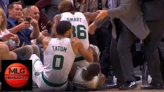 JR Smith & Marcus Smart EPIC Scuffle | Celtics vs Cavaliers | 10.06.18