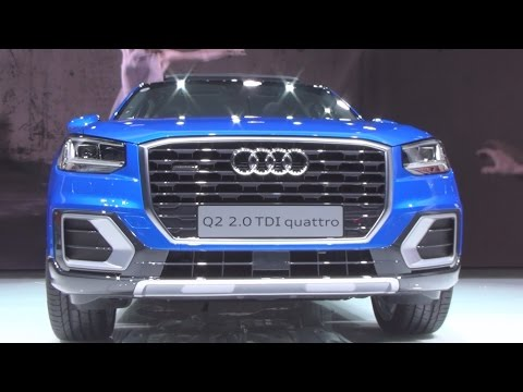 Audi Q2 2.0 TDI Quattro Blue (2016) Exterior and Interior in 3D