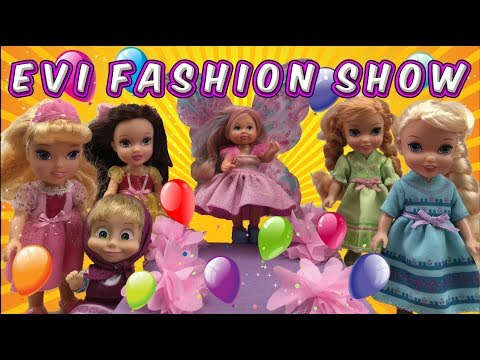 Elsa and Anna help Evi with her fashion show - Evi Fashion show