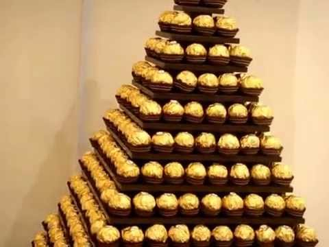 wedding cake stand hire peterborough wedding market s ferrero rocher rotating and led displays 25630