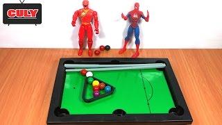 Bàn đánh bida mini siêu nhân gao và người nhện thách đấu đồ chơi trẻ em toy for kids