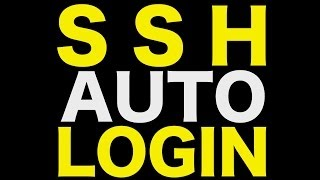 SSH Auto Login - How to automatically log into your server