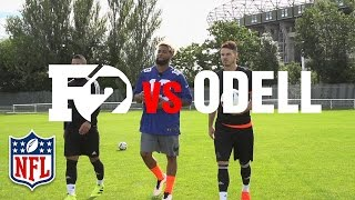 Odell Beckham Jr. Teaches F2 the Spectacular Catch, Banana Punts & How to Throw a Football   NFL