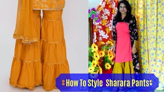 How To Style New Design Sharara Pants In Summer | Indo Western Lookbook| Shiney Roops