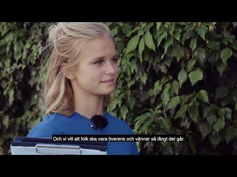 Line, 14 år, frågar ut Daniel Bäckström från Centerpartiet