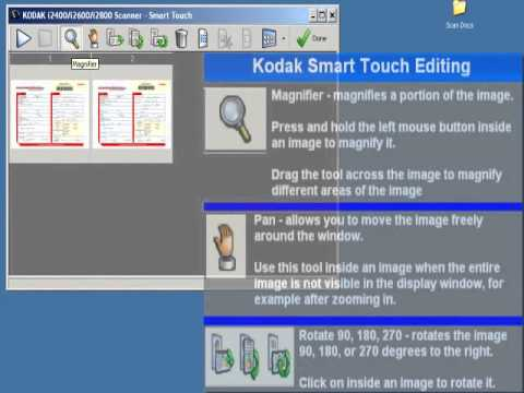 Kodak Smart Touch: Image Editing Preview