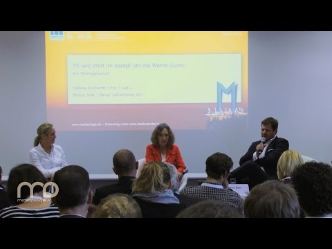 Diskussion: TV und Print im Kampf um die Werbe-Euros