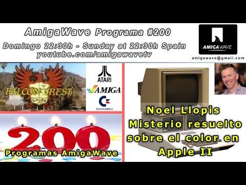AmigaWave #200. Entrevista con Noel Llopis, misterio del color del Apple II resuelto.