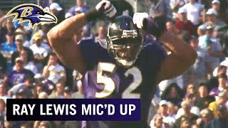 Ray Lewis Mic'd Up vs. Chargers 'What Time is It?!' | Baltimore Ravens