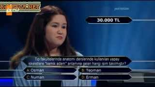 Kim Milyoner Olmak ister Manolya Zeynep Özdemir 201. Bölüm 05.04.2013