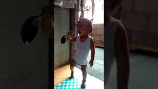 1year old singing baby boy