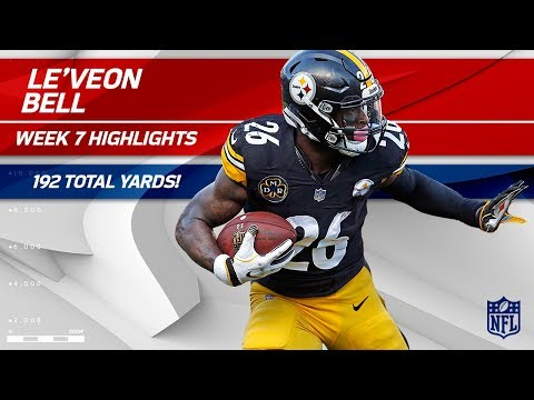 Le'Veon Bell's Big Game w/ 192 Total Yards!   Bengals vs. Steelers   Wk 7 Player Highlights