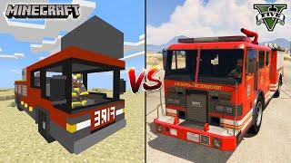MINECRAFT FIRE TRUCK VS GTA 5 FIRE TRUCK  - WHICH IS BEST?