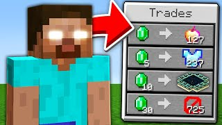 Minecraft, But Herobrine Trades OP Items…