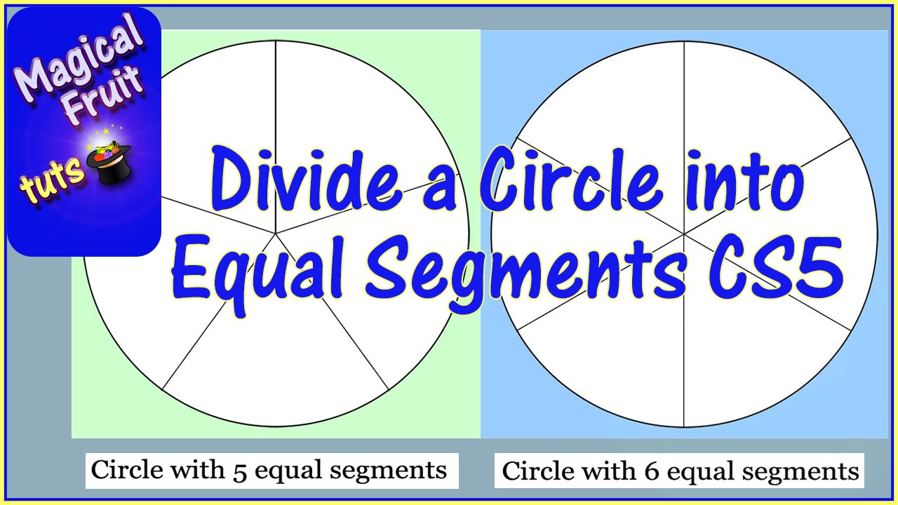 how do you divide a circle into 10 equal parts