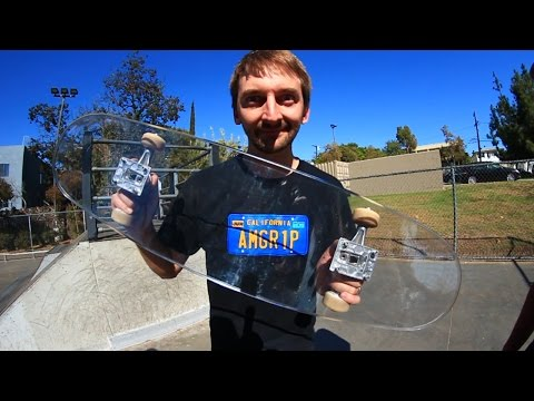 BULLET PROOF GLASS SKATEBOARD! | YOU MAKE IT WE SKATE IT EP 39