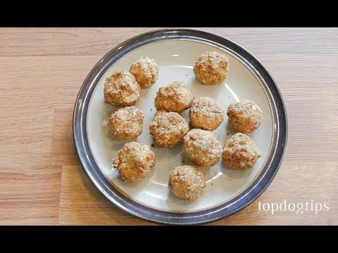 Air Fried Dog Treat Poppers
