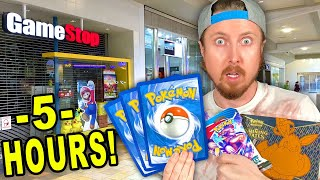 Searching 5 HOURS in a SHOPPING MALL & TARGET for ANY Pokemon Cards! Lucky *RAINBOW RARE* Opening