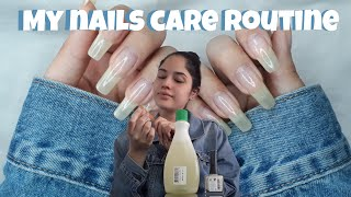 HOW TO GROW LONG NAILS (nail care routine)