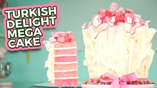 Turkish Delight MEGA CAKE | Rosewater Flavor for Spring Baking | How To Cake It