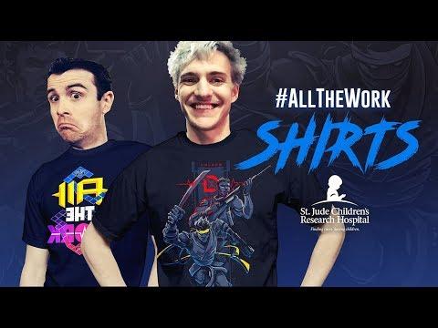 #AllTheWork Charity Shirt Sale!! - Fortnite Battle Royale Gameplay - Ninja