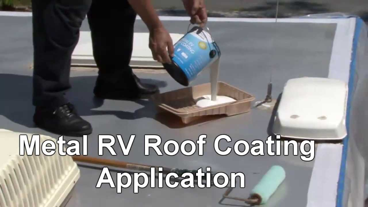 How To Coat A Metal Rv Roof With Dicor Products Youtube