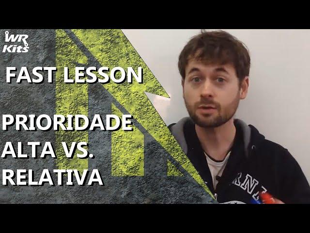 PRIORIDADE ALTA x PRIORIDADE RELATIVA DE INTERRUPÇÃO | Fast Lesson #131