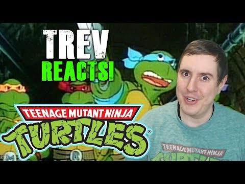 Trev Reacts to the Teenage Mutant Ninja Turtles 1987 Cartoon Series Intro!
