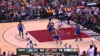 Golden State Warriors vs Portland Trail Blazers. Game #3. PlayOffs NBA 2016