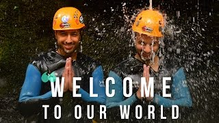 Adventure and spirit: welcome to our world. bali canyoning team