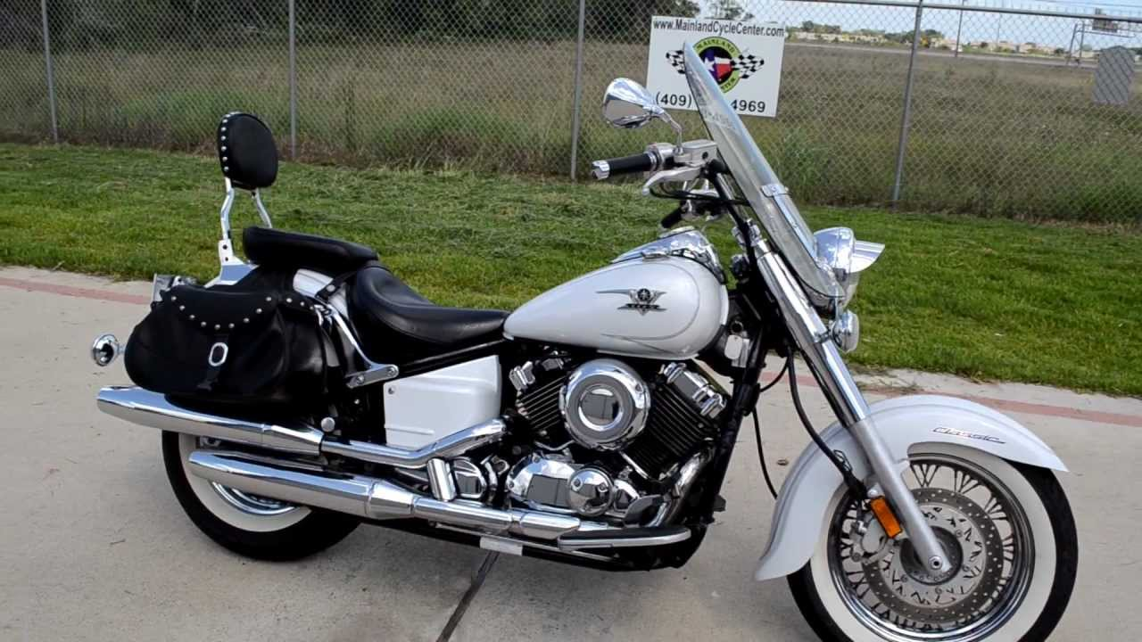2007 yamaha vstar 650 classic pearl white overview review walk around youtube. Black Bedroom Furniture Sets. Home Design Ideas