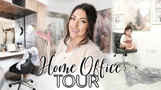 AD   DECORATE & CLEAN MY HOME OFFICE WITH ME   HOME OFFICE TOUR