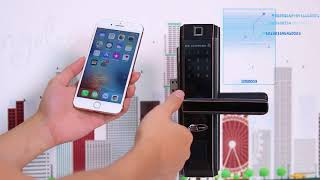 Khóa vân tay mã số chuyên dụng cho cửa nhôm Xingfa , cửa nhựa lõi thép SBS4000 Hãng 5ASYSTEMS USA