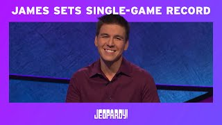 James Holzhauer Sets Single-Game Record | JEOPARDY!