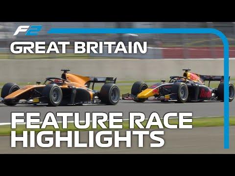 F2 Feature Race Highlights | 2020 British Grand Prix