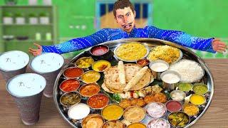 Giant Thali Hindi Kahani विशाल थाली हिंदी कहानियाँ Hindi Kahaniya Funny Comedy Video Village Kahani