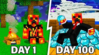 I Survived 100 Days as a MILLIONAIRE in Minecraft!
