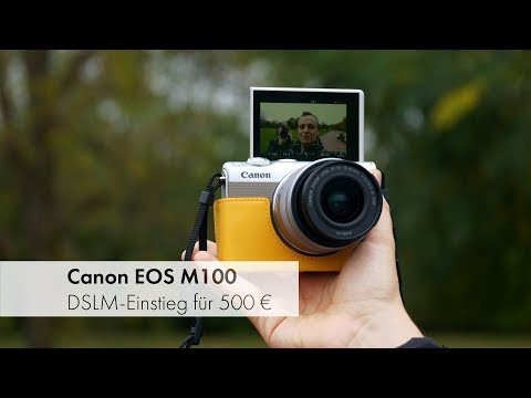 video Canon EOS M100 Systemkamera (24,2MP, 7,5 cm (3 Zoll) Display, WLAN, NFC, Bluethooth, Full HD) Kit mit EF-M 15-45 mm f/3.5-6.3 IS STM schwarz