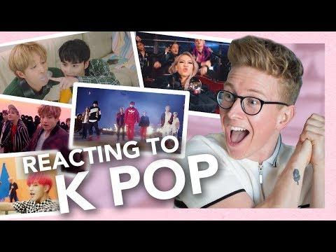 reacting to k-pop (exo, bts, blackpink, seventeen, holland & more!!)