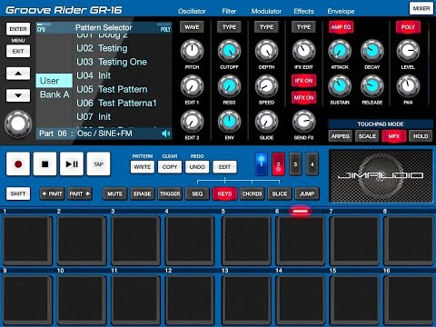 GROOVE RIDER GR-16 - How To Create - Save - Rename and Copy New Patterns - iPad Tutorial