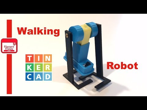 3D Printed Walking Robot using Tinkercad Circuit Assembly