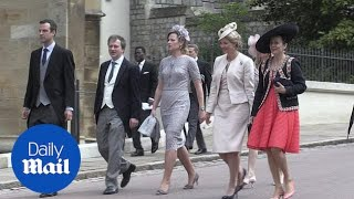 Distinguished guests arrive for wedding of Lady Gabriella Windsor