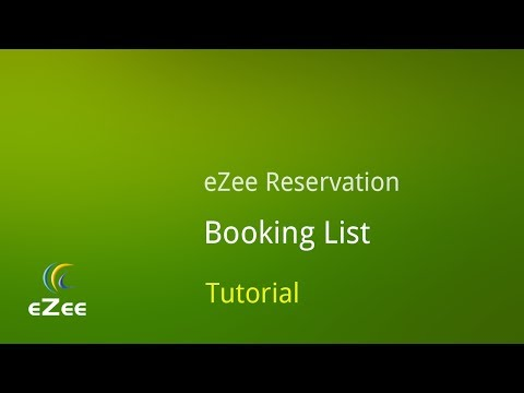 How to Manage Booking List in eZee Reservation, Online Hotel Booking Engine
