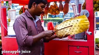 PINEAPPLE CUTTING  | KALVA STATION | MUMBAI STREET FOODS | STREET FOODS IN INDIA