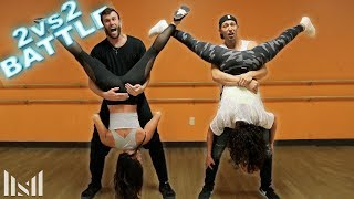 2vs2 EPIC DANCE BATTLE || ft Brodie Smith & The Cheerleaders