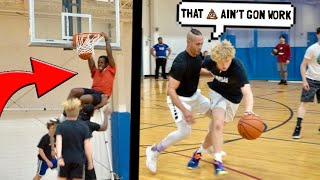 Trash Talker Fouls HARD & Gets EXPOSED! 5v5 Basketball!