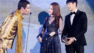 Chi Pu (치푸) & Choi Jin-hyuk (The Heirs) trao giải cho Piko Taro (PPAP) | WebTV Asia Awards 2016