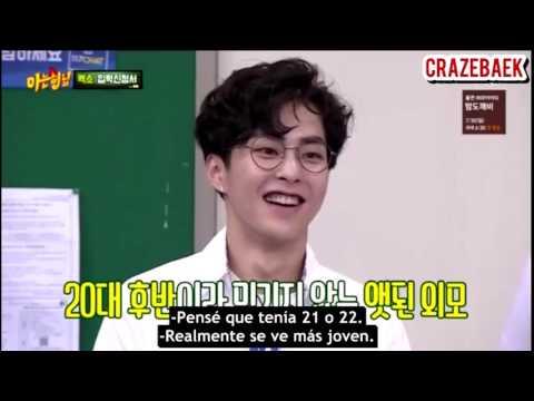 [SUB ESP] EXO @ La habilidad de Xiumin es verse joven - Knowing Brothers
