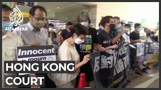 Hong Kong pro-democracy activists appear in court